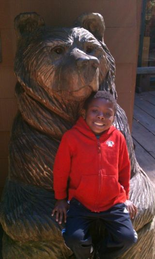 Theo and bear